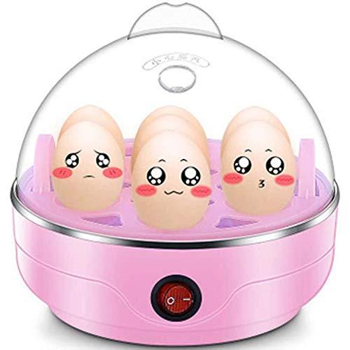 Thuis Elektrische Eierkoker, 7 Egg Capaciteit Omelette Maker Met Automatische Timer Steamer Inbegrepen Meten Van Kop,Pink