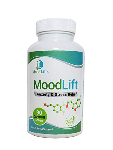 MoodLift - Anxiety & Stress Relief | 90 Vegan Capsules | Contains 5-HTP,...