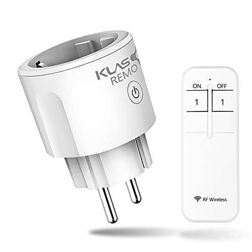 Toma mando a distancia, tomas remotas, enchufe inteligente RF inalámbrico, enchufe inteligente 16 A, enchufe inteligente con 1 control remoto