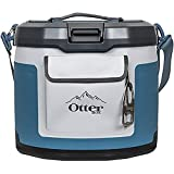 OtterBox Trooper IP66 Leakproof Seal Portable 12 Quart Insulated Cooler with Shoulder Strap, Hazy Harbor Blue