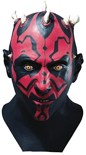 Star Wars tm Darth Maul tm Adult Latex Full Overhead Mask (máscara/careta)