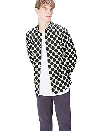 Marchio Amazon - find. Camicia Uomo, Nero (Black), M, Label: M