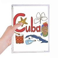キューバの国家の象徴のランドマークのパターン 硬質プラスチックルーズリーフノートノート