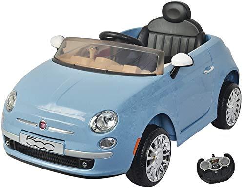 MamaLoes Eco Toys Fiat 500 Blauw Elektrische Kinderauto 651R