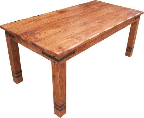 Guru-Shop Eettafel met Ronde Randen Armaturen R509 Light - Model 2, Bruin, Lengte: 180 cm, Eettafels Keukentafels