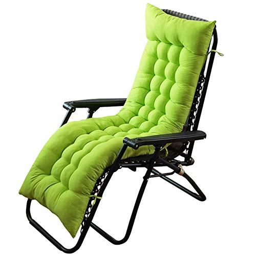 HotYou Coussin de Chaise Longue, épais, pour l'intérieur/l'extérieur, rembourré, antidérapant,Vert,155 * 48 * 8 CM