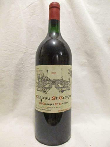 magnum 150cl saint-georges saint-émilion château saint-georges rouge 1988 - bordeaux