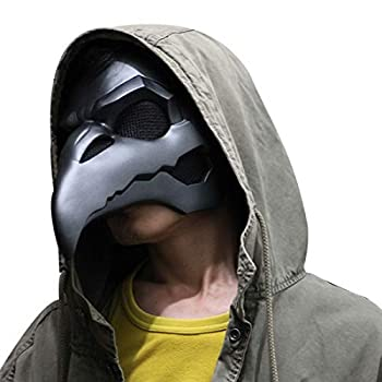 Overwatch Reaper Crow Mask Steampunk Gothic PVC Mask Halloween Cosplay Costume Props