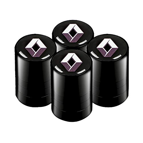 4PCS Tapas de Válvulas de Neumático de Coche Tapones de Válvulas de Rueda Tapa de Neumático a Prueba de Polvo para Renault Megane 2 Decoración de Estilo de Coche