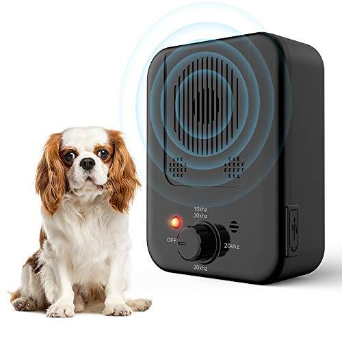 Queenmew Dispositivo Anti-abbaio, Anti-abbaio ad ultrasuoni per Il Controllo dell'abbaio Sonic per Fermare l'abbaiare dei Cani, silenziatore Anti-abbaio con 3 Livelli di frequenza