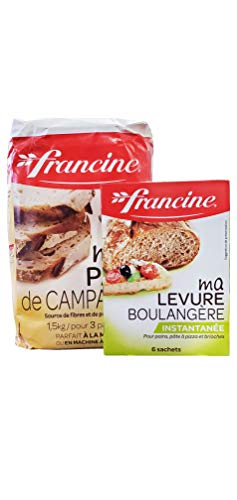 Francine French Imported Country Bread Dough & Baker's Yeast Bundle