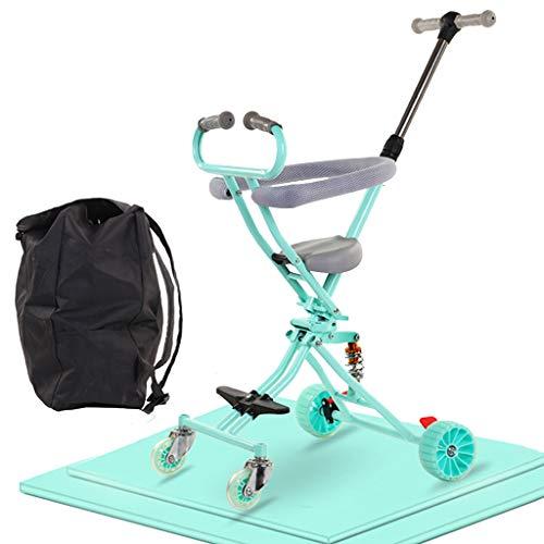 LIUX Leichter Faltbarer Kinderwagen Attraktiver Kinderwagen mit 4 Rädern Kann im Flugzeug mitgeführt Werden, kann im Kofferraum verstaut Werden und ist auf Reisen tragbar