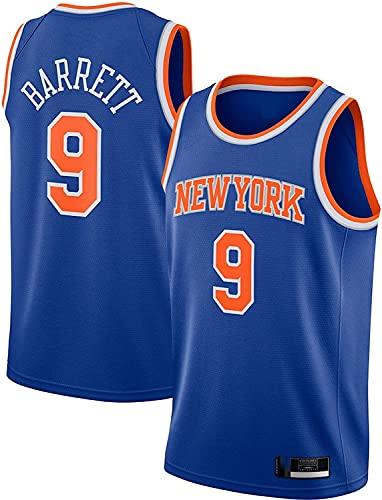 New York Knicks # 9 Basketball Jersey RJ Barrett 2020/21 Swingman Soft and Skin Friendly Secking Secking Chaleco Jersey Jersey (Color : Blue, Size : XL)