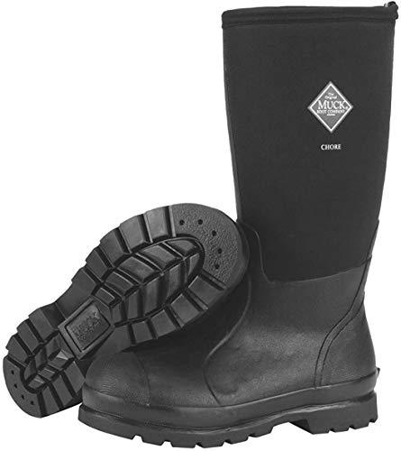 Muck Chore Classic Men's Rubber Work Boots,Black,Men's 9 M US / Women's 10 M US