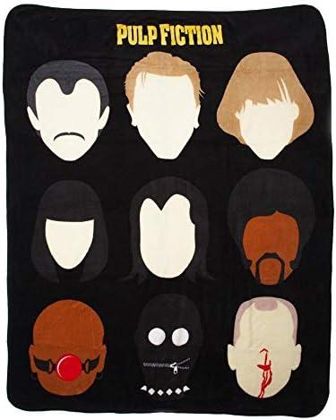 Bioworld Miramax Pulp Fiction Plush Throw Blanket 48 x 60 product image