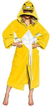 Power Rangers Men s Mighty Morphin Robe Yellow One Size