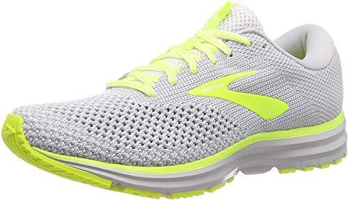 Brooks Revel 2, Zapatillas de Running Hombre, Multicolor (Grey/Black/Nightlife 099), 44.5 EU