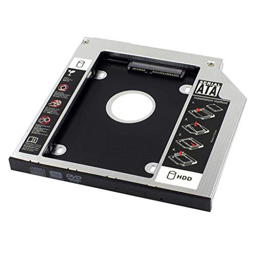 HDBD Compartimientos de Disco Duro Universal 12,7/9,5/9,0 mm Aluminio 2nd SATA SSD Bandeja de Disco Duro Adaptador Caddy