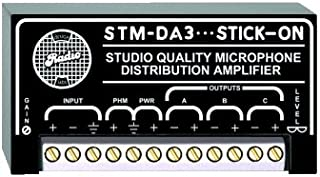 RDL STM-DA3 1x3 Mic Distribution Amplifier Electrical and Audio Isolation, Studio Quality Low Noise