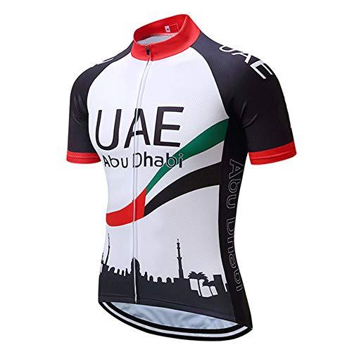 Abbigliamento Ciclismo Squadre Uomo Magliette Bici MTB Abbigliamento per Biciclette da Strada con Tasca Maglia MTB Estivo