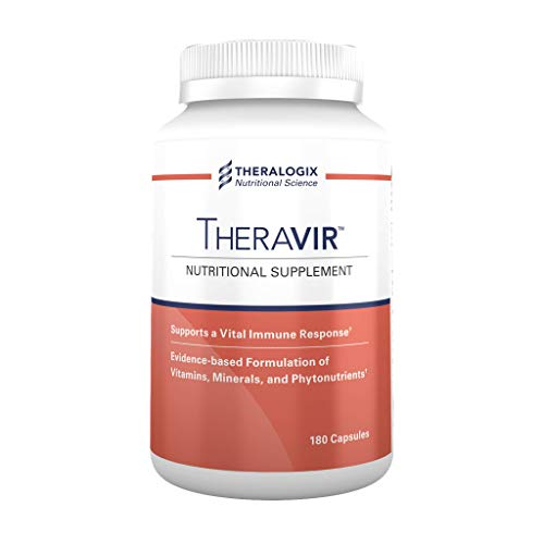 Theravir™ Immune Support Supplement | 90 Day Supply | 180 Capsules | Gluten-Free | Made in The USA