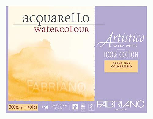 Fabriano Artistico Acuarela NO bloquear - Grande (35.5x 51) - Alta Blanca