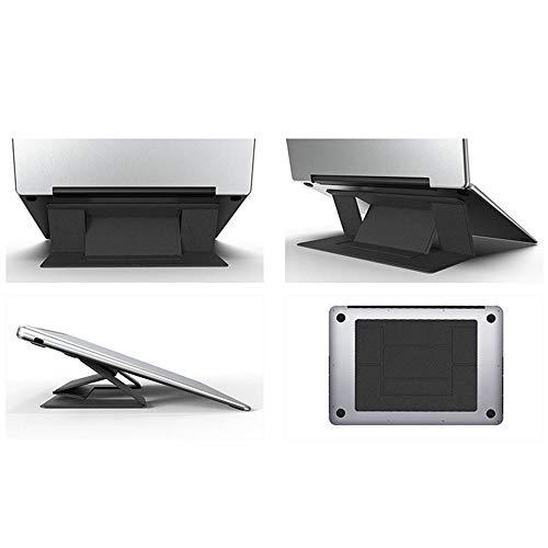 COCOCO Laptopständer Klappbarer Laptop-Ständer Höhenverstellbar Unsichtbarer Laptop-Riser-Halter Tragbarer Ergonomischer Notebook-Ständer Für MacBook Air Pro-Khaki