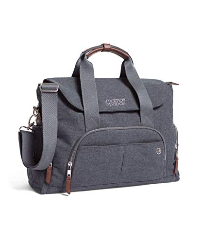 Mamas & Papas 2 Way Bowling Style Changing Bag with Change Mat & Insulated Bottle Holder - Navy