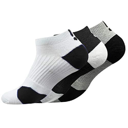 Litthing Calcetines Deportivos Antideslizantes de Algodón para Hombre Desodorante Respirables para Baloncesto Fútbol Yoga de Balonmano Correr engrosamiento de Ciclismo (Corto, 3)