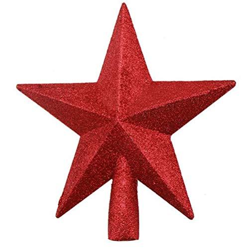 JOAN Weihnachtsbaumspitze, Weihnachtsbaumspitze mit glitzernden Sternen, für Zuhause, Einkaufszentrum, Weihnachtsbaumdekoration – 8 Stile
