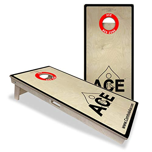 ACE Red Zone - Cornhole Board Set - ACL Approved Bag Manufacturer - Made of Baltic Birch, Includes Handles, Made in USA, Professional Tournament Style, ACL Pro Player Approved