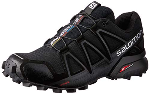 Salomon Femme Chaussures de trail running, SPEEDCROSS 4 W, Couleur: Noir (Black/Black/Black Metallic), Pointure: EU 40