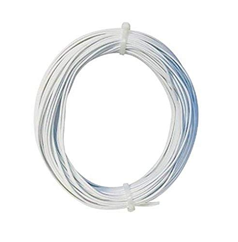 Bulk Hardware BH01469 2-Core Standard Figure 8 Solid Copper Thermostat Bell Wire Cable, Door Bell Intercom Phone Entry, 0.5mm White, 10 Metres (33 feet)