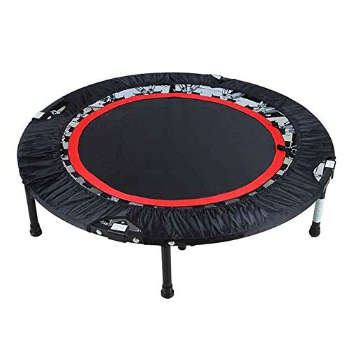 JIADUOBAO-E Trampoline, 40' Foldable Mini Trampoline, Fitness Backboard with Adjustable Foam Handles, Fitness Trampoline Indoor for Children and Adults E
