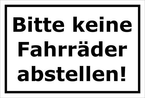 Melis Folienwerkstatt Schild - Fahrräder abstellen - 30x20cm | 3mm Aluverbund – S00050-043-A -20 Varianten
