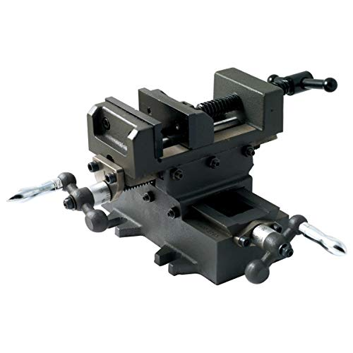 "HHIP 3900-2704 Heavy Duty Cross Slide Vise, Metric Dial, Base is 8"" x 5"", Height is 6"", 4"""