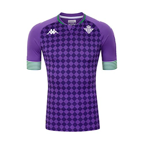 Kappa Real Betis 2020-2021 - Camiseta de fútbol para hombre, Hombre, morado,...