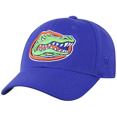 Top of the World Florida Gators Cap-Officially Licensed by NCAA, Memory, Wool-Adult, One Size Fits Most Schildmütze – offiziell lizensiert, Wollmischung – Erwachsener, Einheitsgröße, Royal