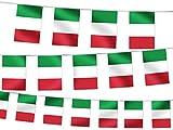 Alsino WM Wimpelkette Fahnendekoration Fahnenkette 4,5 m Flaggenkette Garten Bar Fanartikel W-IT Wimpel Italien 4.50 m