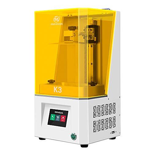 MINGDA - Impresora LCD fotocurante UV 3D con pantalla HD 2K, filtro de aire con pantalla táctil inteligente a color de 3,5 pulgadas, tamaño de impresión de 5,5 pulgadas, 119 x 67 x 160 mm
