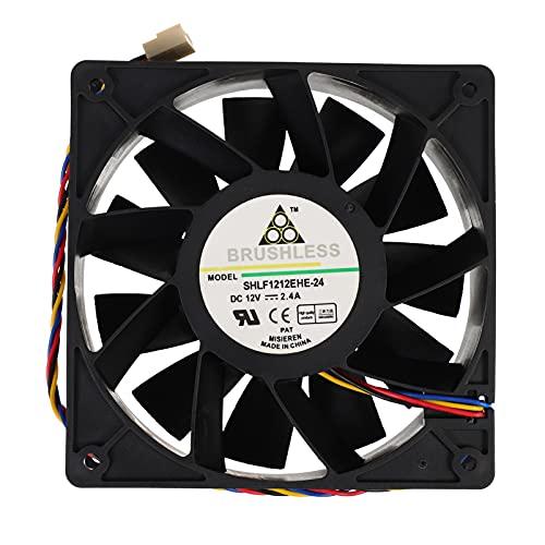 OSALADI Ventilador de Refrigeración por Ordenador de 4 Cables 11- Blade 12V 2. 4A Ventilador de Refrigeración por Aire del Chasis