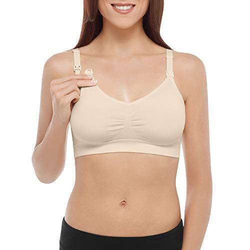 Bravado! Basics Women's Seamless Comfort Maternity and Nursing Bra, Ivory, X-Large