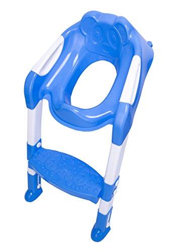DoubleBlack Bebé Niños Orinal Formación Aseo Escalera Asiento Adaptador Azul