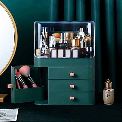 TIMAW Organizador de Maquillaje + Organizador de Joyas + Caja Organizador de lápiz Labial, Soporte de Almacenamiento cosmético para lápices labiales/Crema/máscara