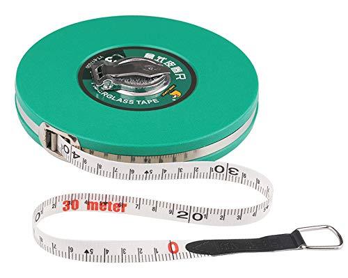 Sooiy La Fibra de Vidrio Cinta métrica 10/15 / 20/30 / 50M Cinta métrica retráctilRegla FlexibleAncho métrico Herramientas de medición Cintas métricas,40m