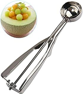 Small Ice Cream Scoop with Trigger - 1.5 Tbsp Cookie Scoop, Stainless Steel Ice Cream Scooper/Melon Baller for Kids