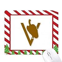 ハゲタカの枝が検索を停止 ゴムクリスマスキャンディマウスパッド