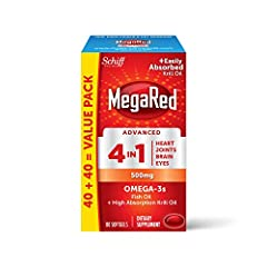 SPECIAL COMBINATION: 500 milligrams combination of high concentration Fish Oil and high absorption Krill Oil MORE OMEGA 3's: 2X more Omega-3s than standard fish oil alone 4 BENEFITS IN 1: Just 1 softgel daily supports 4 benefits heart, joints, brain ...