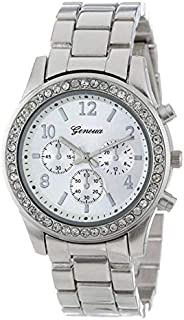 Geneva Dress Watch For Women Analog Stainless Steel Plated - 002S