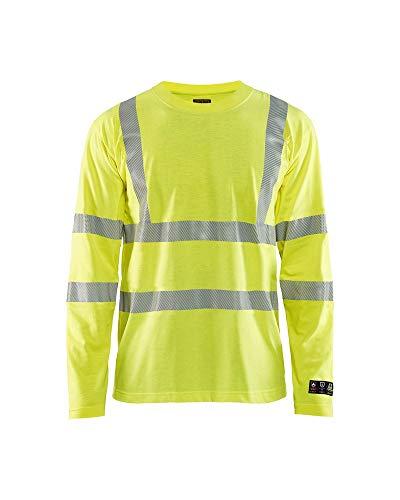 Multistore 2002 - Maglietta a maniche lunghe, taglia XXXL, colore: Giallo
